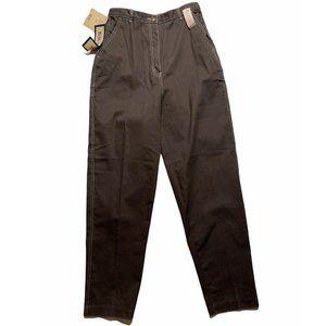 Ladies Bill Blass Stretch Brown Pants Size 14